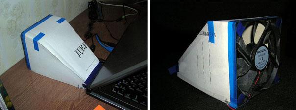 самодельное устройство для охлаждения ноутбука