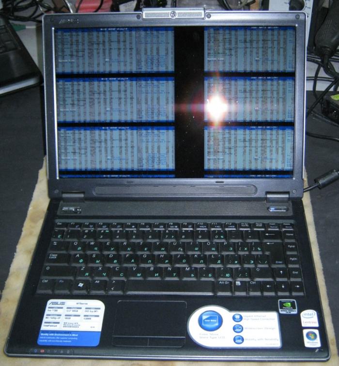 Проблемы с видеокартой у ноутбука Asus W7s