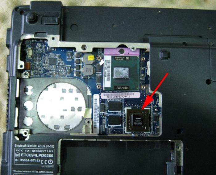 Неисправный чип видеокарты