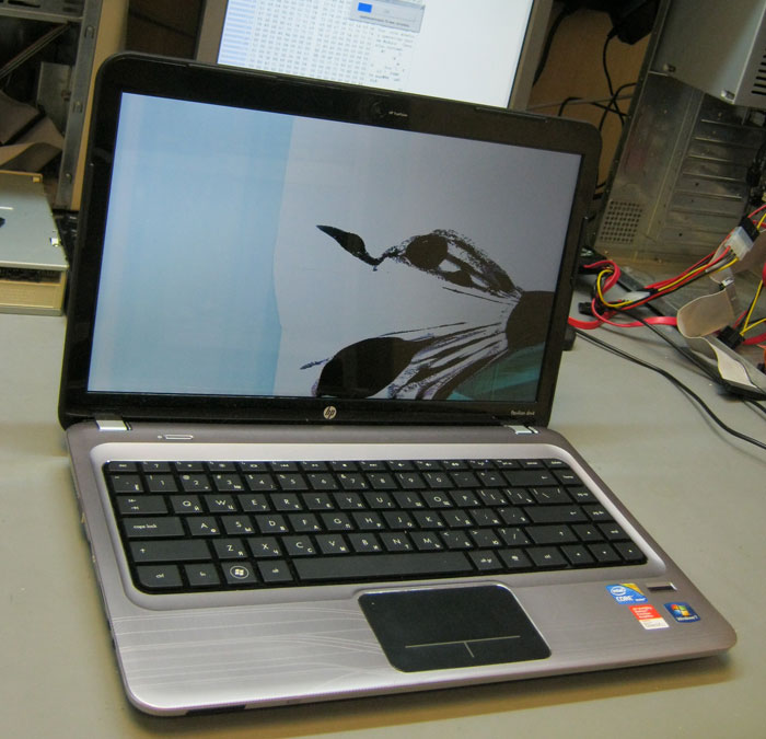 HP Pavilion dm4 с битой матрицей