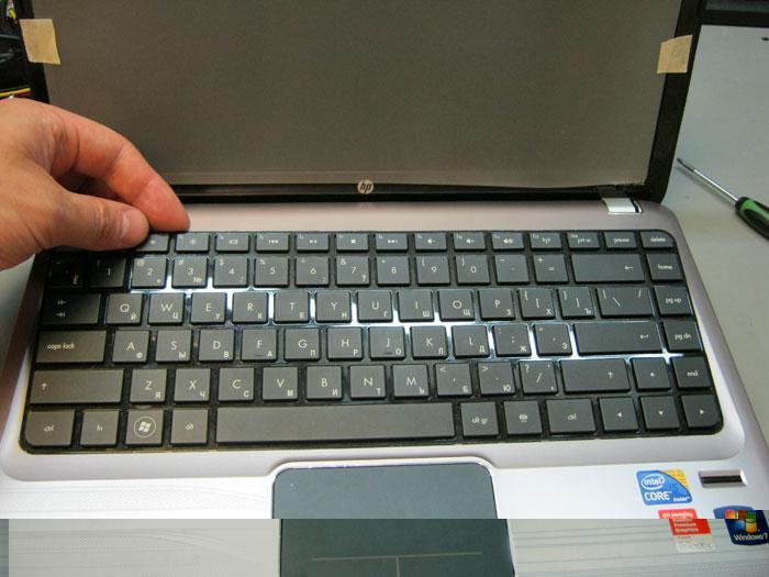 Установка клавиатуры
