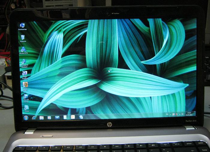 Новая матрица ноутбука в работе