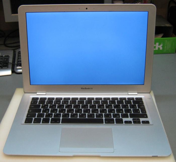 неисправный винчестер на Apple MacBook Air