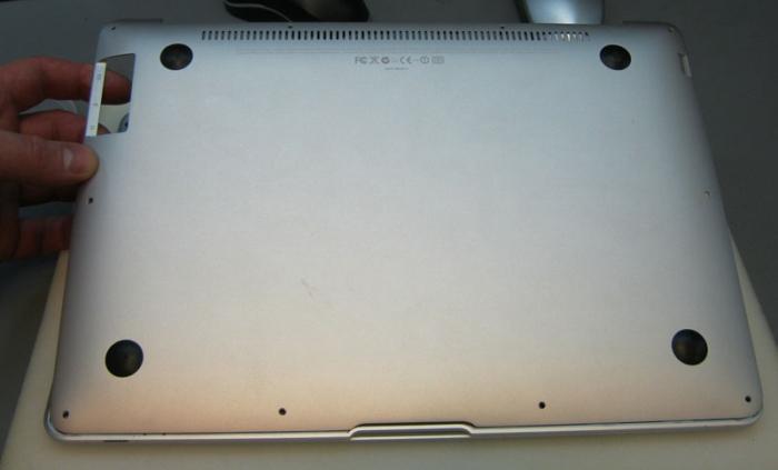задняя крышка MacBook Air