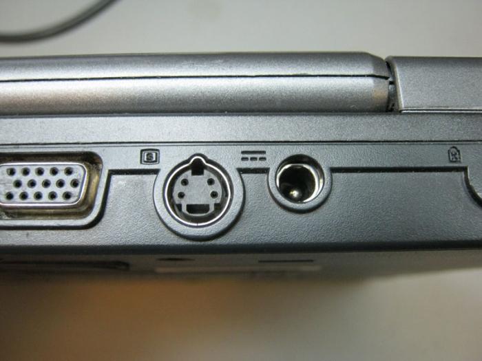 поврежденный разъем питания ноутбука Fujitsu-Siemens U9200