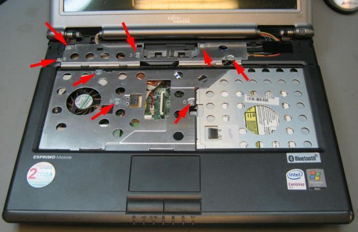защитная алюминиевая крышка под клавиатурой