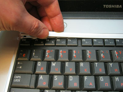 верхняя планка клавиатуры