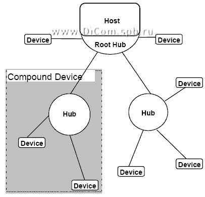 архитектурная особенность шины USB