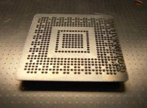 Замена контактов чипа видеокарты, процессора