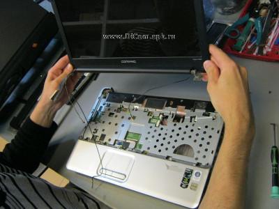 Чистка системы вентиляции ноутбука HP Compaq CQ60